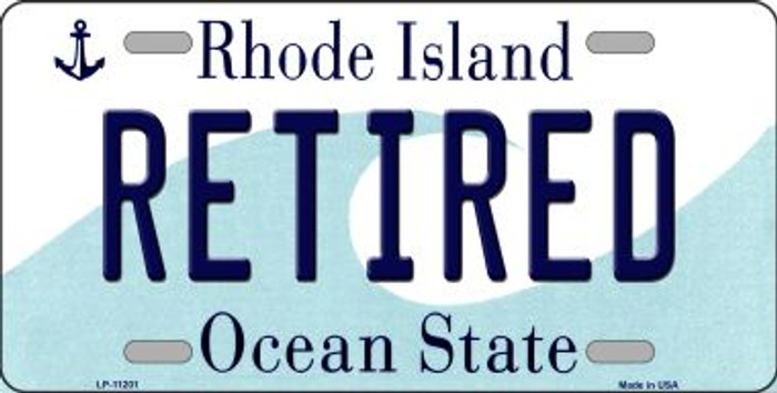 Retired Rhode Island Novelty Metal Vanity License Plate Tag LP-11201