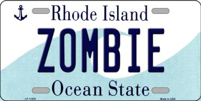 Zombie Rhode Island Novelty Metal Vanity License Plate Tag LP-11203