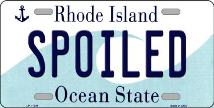 Spoiled Rhode Island Novelty Metal Vanity License Plate Tag LP-11204