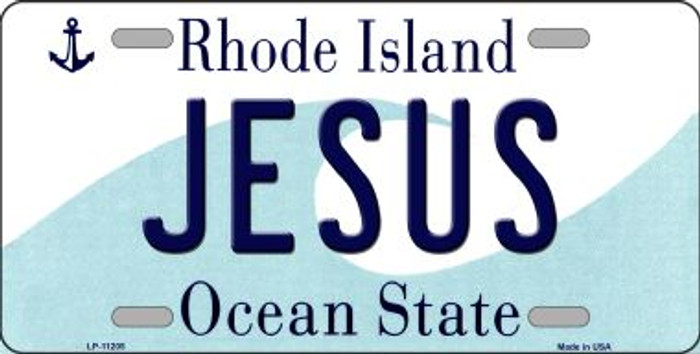 Jesus Rhode Island Novelty Metal Vanity License Plate Tag LP-11205