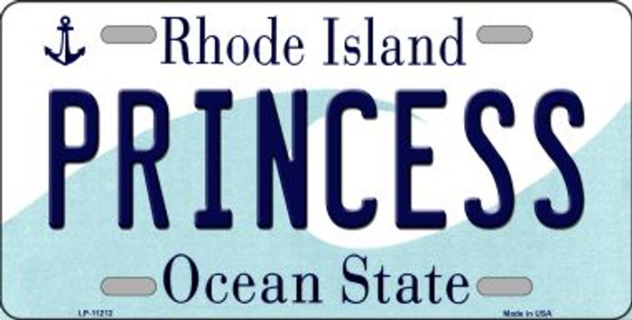 Princess Rhode Island Novelty Metal Vanity License Plate Tag LP-11212