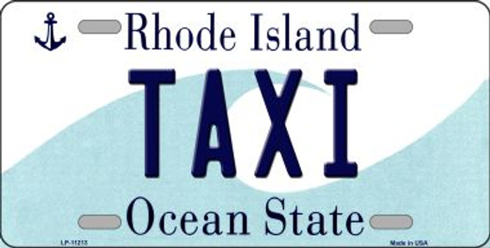 Taxi Rhode Island Novelty Metal Vanity License Plate Tag LP-11213