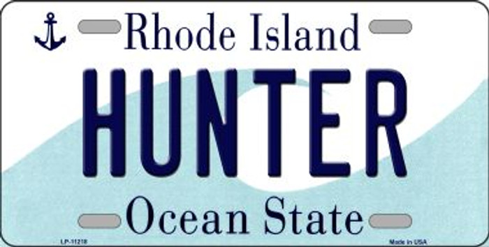 Hunter Rhode Island Novelty Metal Vanity License Plate Tag LP-11218