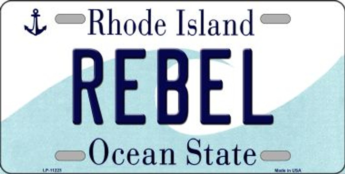 Rebel Rhode Island Novelty Metal Vanity License Plate Tag LP-11223