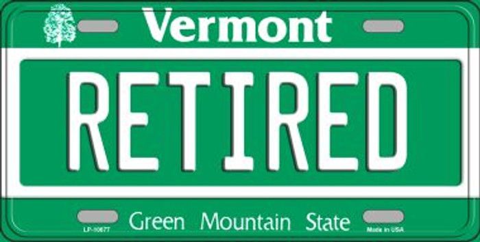 Retired Vermont Novelty Metal Vanity License Plate Tag LP-10677