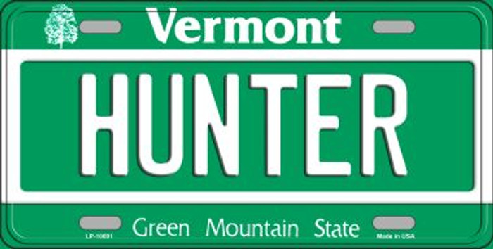 Hunter Vermont Novelty Metal Vanity License Plate Tag LP-10691