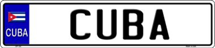 Cuba Novelty Metal European License Plate Tag EP-124