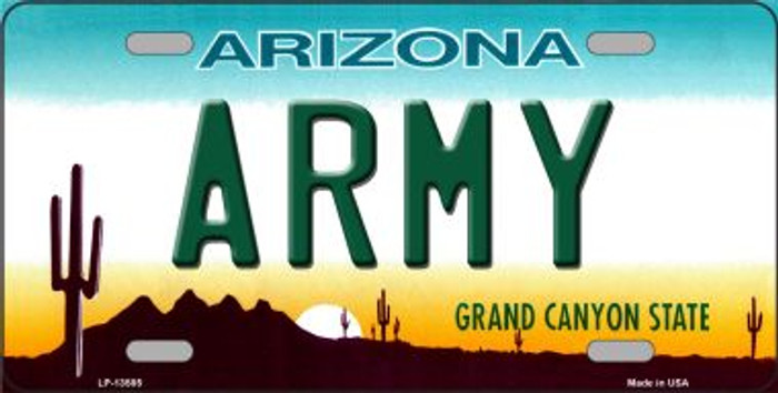 Army Arizona Novelty Metal License Plate Tag LP-13585