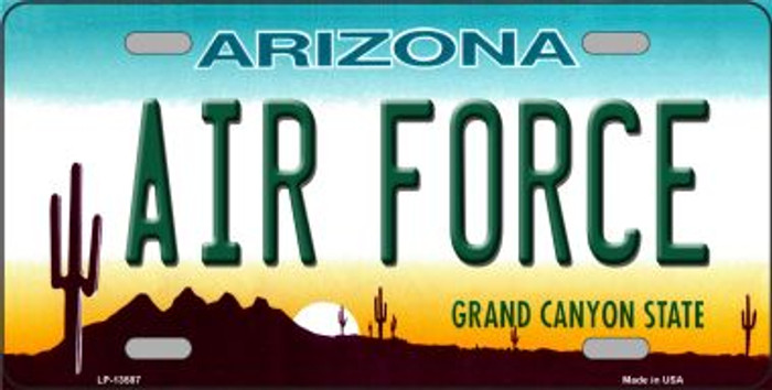 Air Force Arizona Novelty Metal License Plate Tag LP-13587