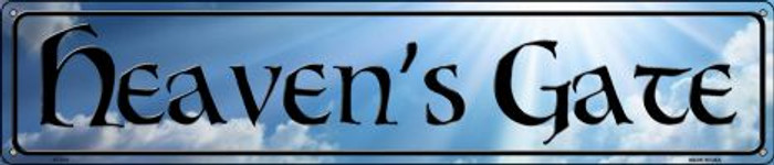 Heavens Gate Novelty Metal Street Sign ST-375
