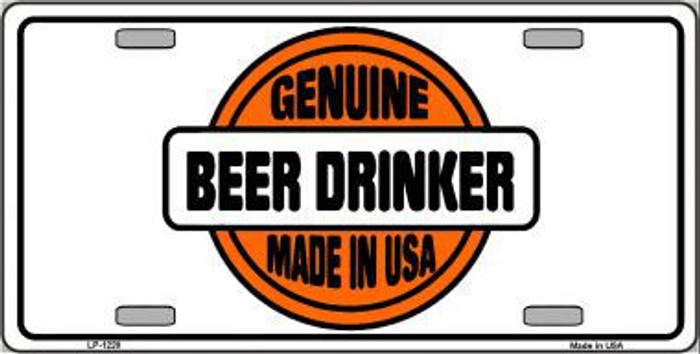 Genuine Beer Drinker Novelty Metal License Plate