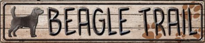 Beagle Trail Novelty Metal Street Sign ST-452
