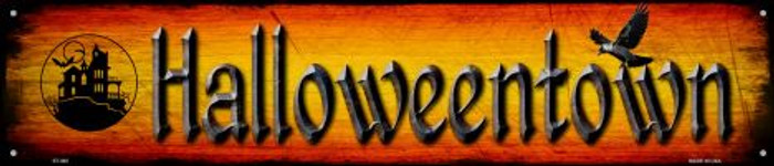 Halloweentown Novelty Metal Street Sign ST-492