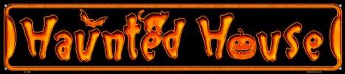Haunted House Novelty Metal Street Sign ST-580