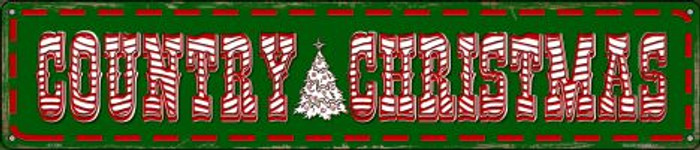 Country Christmas Novelty Metal Street Sign ST-598
