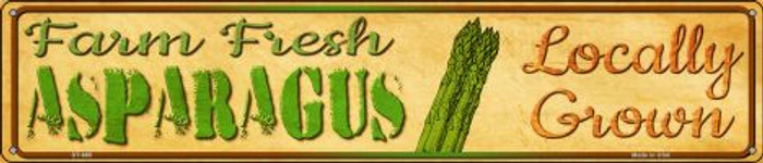 Farm Fresh Asparagus Novelty Metal Street Sign ST-695