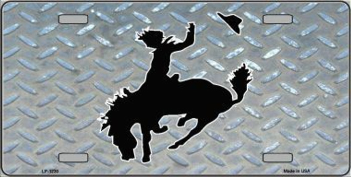 Bucking Bronco Novelty Metal License Plate