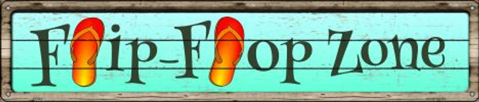 Orange Flip Flop Zone Novelty Metal Street Sign ST-843