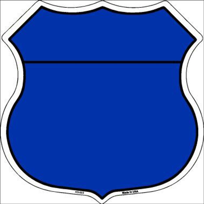 Blue|Black Plain Highway Shield Metal Sign