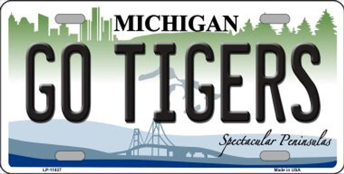 Go Tigers Michigan Novelty Metal License Plate Tag LP-11027