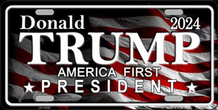 America First Trump Novelty Metal License Plate Tag LP-11030