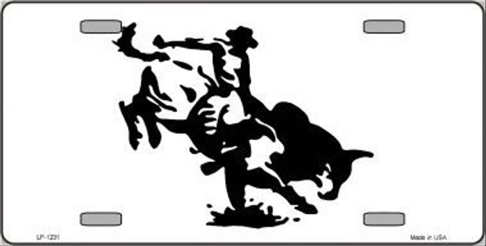 Bull Rider Novelty Metal License Plate
