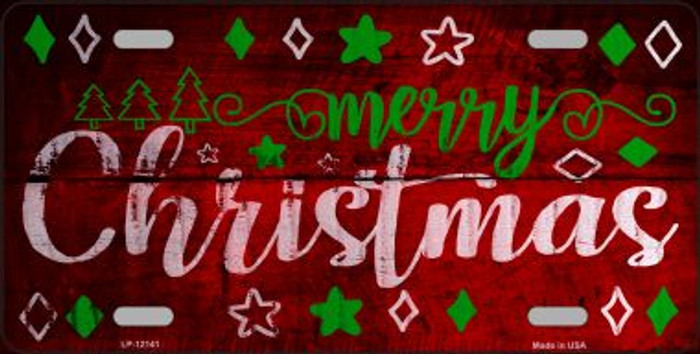 Merry Christmas Novelty Metal License Plate LP-12141