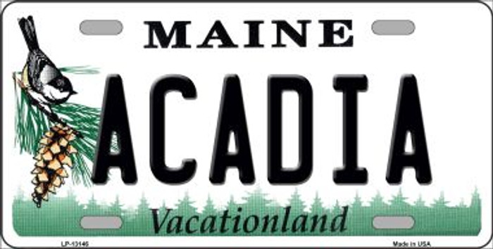Acadia Maine Novelty Metal License Plate Tag LP-13146