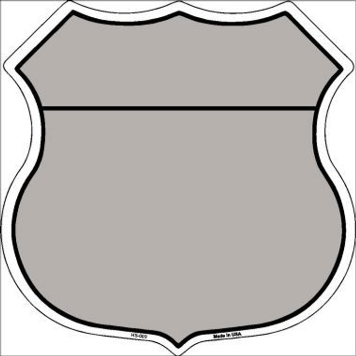 Gray|Black Plain Highway Shield Metal Sign