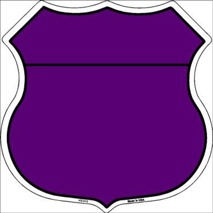 Purple|Black Plain Highway Shield Metal Sign