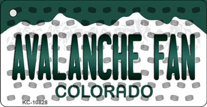 Avalanche Fan Colorado State License Plate Novelty Metal Key Chain KC-10828