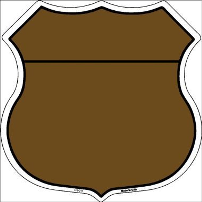 Brown|Black Plain Highway Shield Metal Sign