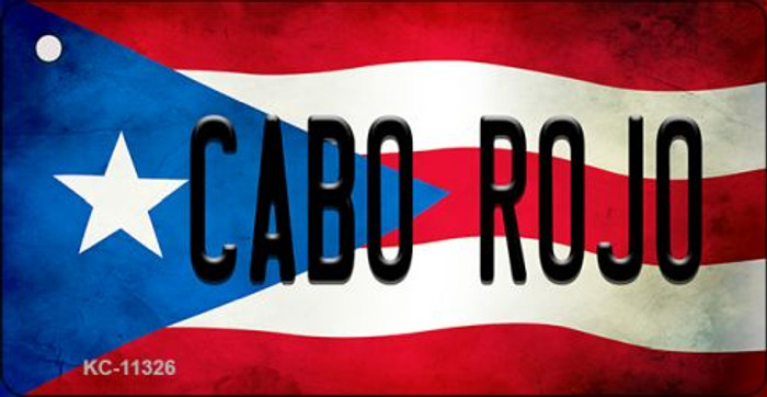 Cabo Rojo Puerto Rico State Flag Novelty Metal Key Chain KC-11326