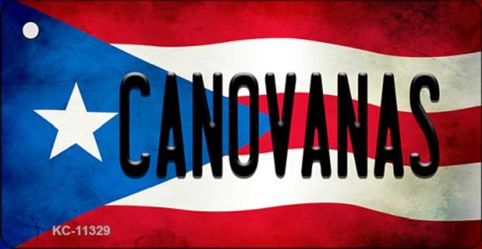 Canovanas Puerto Rico State Flag Novelty Metal Key Chain KC-11329
