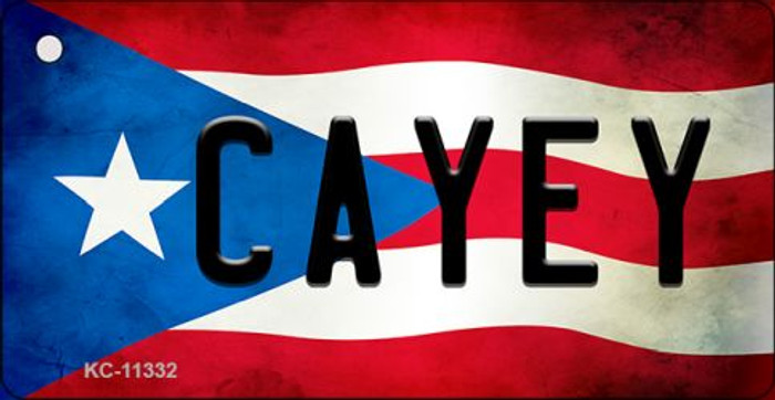 Cayey Puerto Rico State Flag Novelty Metal Key Chain KC-11332