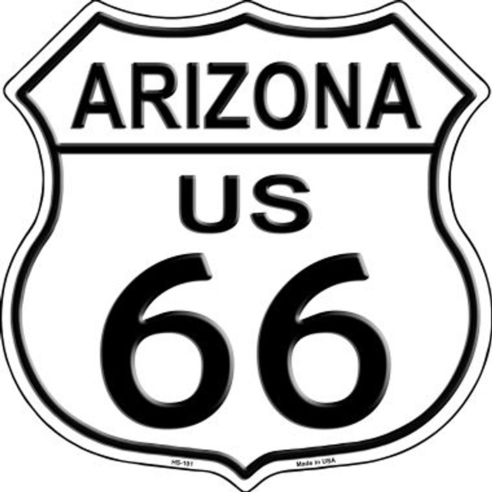 Arizona Route 66 Highway Shield Metal Sign HS-101