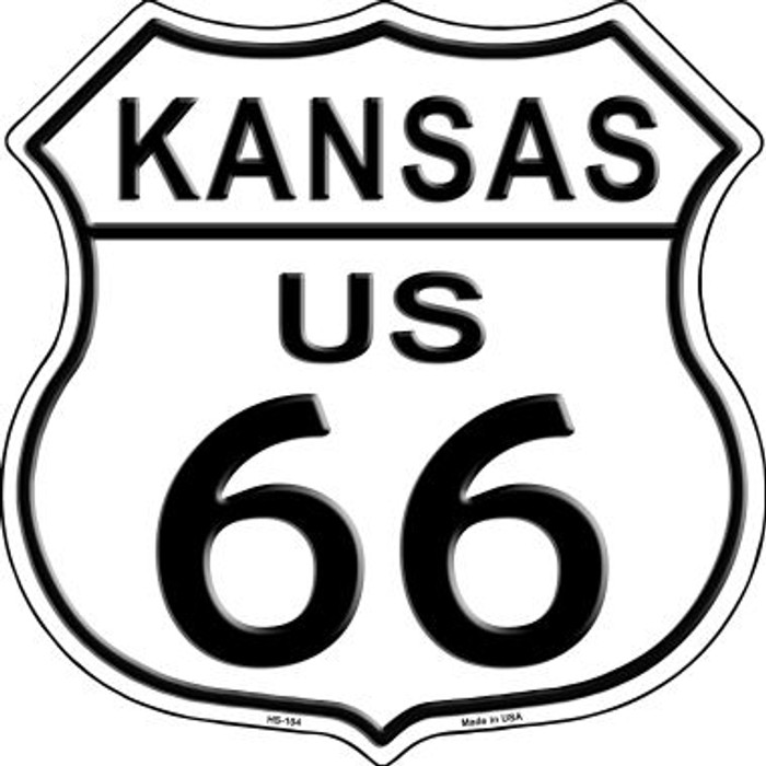 Kansas Route 66 Highway Shield Metal Sign HS-104
