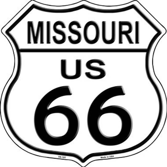 Missouri Route 66 Highway Shield Metal Sign HS-105