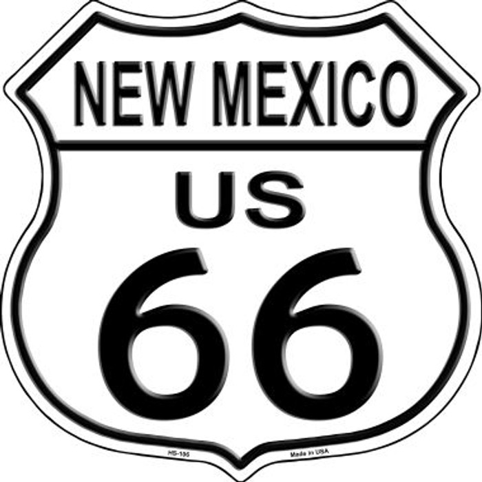 New Mexico Route 66 Highway Shield Metal Sign HS-106