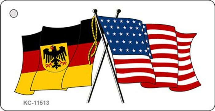 Germany Crossed US Flag Novelty Metal Key Chain KC-11513