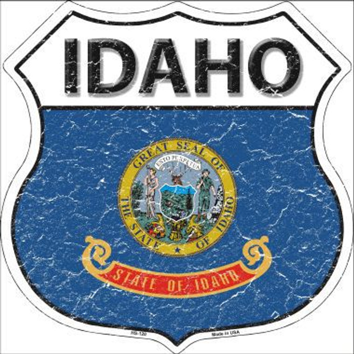 Idaho State Flag Highway Shield Metal Sign
