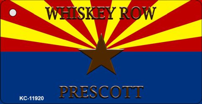 Whiskey Row Prescott Arizona Novelty Metal Key Chain KC-11920