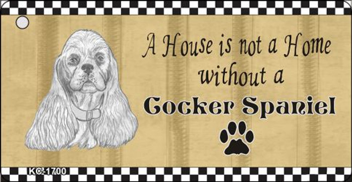 Cocker Spaniel Pencil Sketch Novelty Metal Key Chain KC-1700