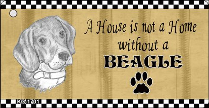 Beagle Pencil Sketch Novelty Metal Key Chain KC-1701