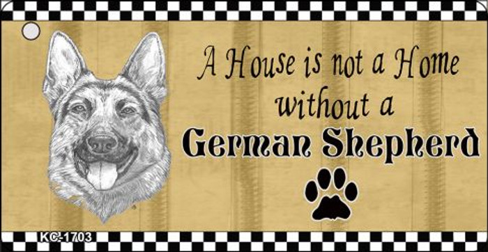 German Shepherd Pencil Sketch Novelty Metal Key Chain KC-1703