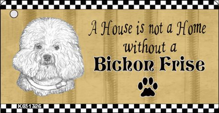 Bichon Frise Pencil Sketch Novelty Metal Key Chain KC-1726