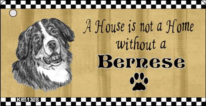 Bernese Pencil Sketch Novelty Metal Key Chain KC-1728