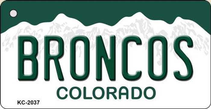 Broncos Colorado State License Plate Novelty Metal Key Chain KC-2037