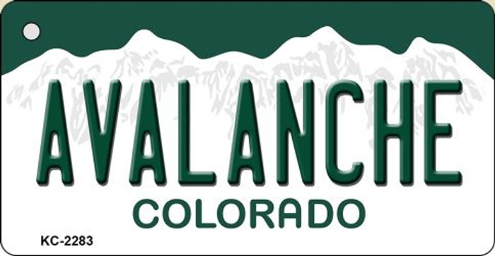 Avalanche Colorado State License Plate Novelty Metal Key Chain KC-2283