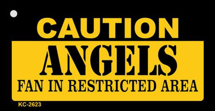 Caution Angels Fan Area Novelty Metal Key Chain KC-2623